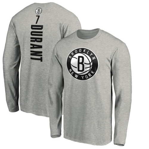 Men's Player Team L/S T-Shirt - Kevin Durant - Gray