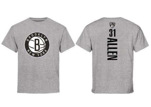 Men's Player Team T-Shirt - Jarrett Allen - Gray