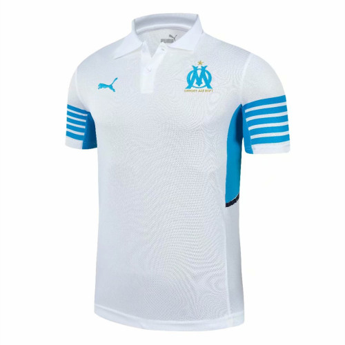 Olympique Marseille 21/22 Pre-Match Polo Shirt - White