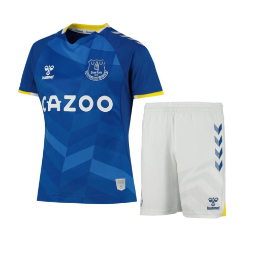 Kids Everton 20/21 Home Jersey and Short Kit