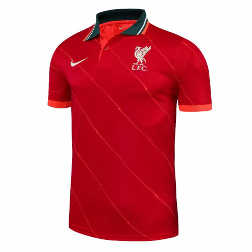 Liverpool 21/22 Pre-Match Polo Shirt - Red
