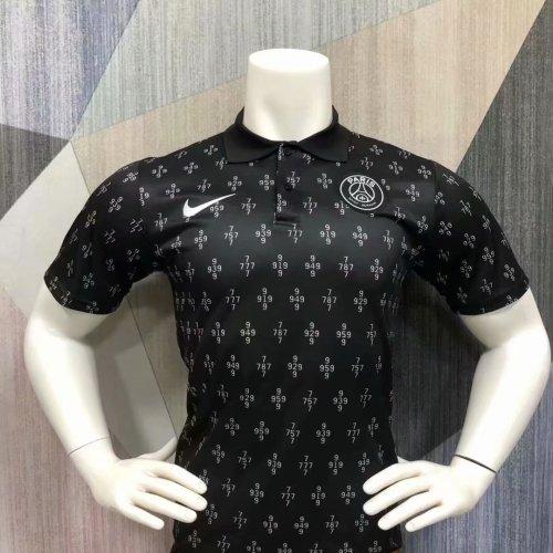 Paris Saint-Germain 21/22 Pre-Match Polo Shirt - Black