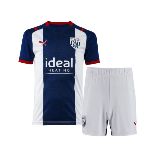 Kids West Bromwich Albion 21/22 Home Jersey and Short Kit