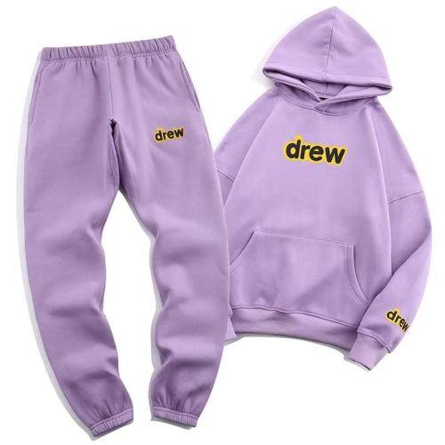Streetwear Brand Hoodie and Pants Suit Purple 2021.8.28
