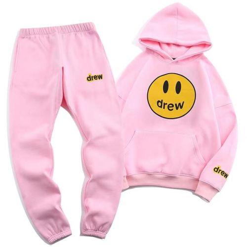 Streetwear Brand Hoodie and Pants Suit Pink 2021.8.28