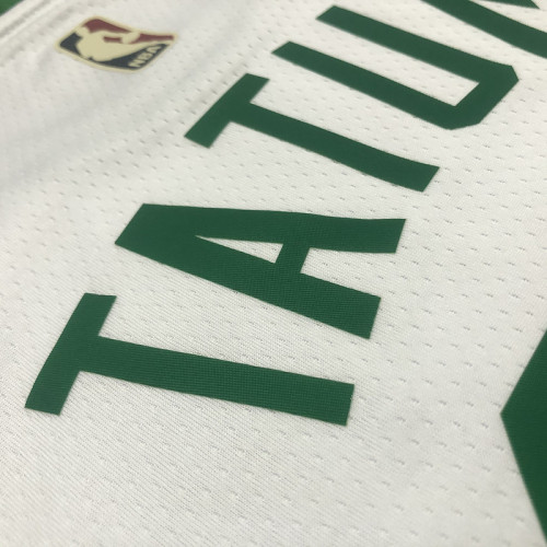 Thai Version Jayson Tatum Men's White 2021-22 75th Anniversary Jersey - Classic Edition