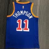 Thai Version Klay Thompson Men's Blue 2021-22 75th Anniversary Jersey - Classic Edition