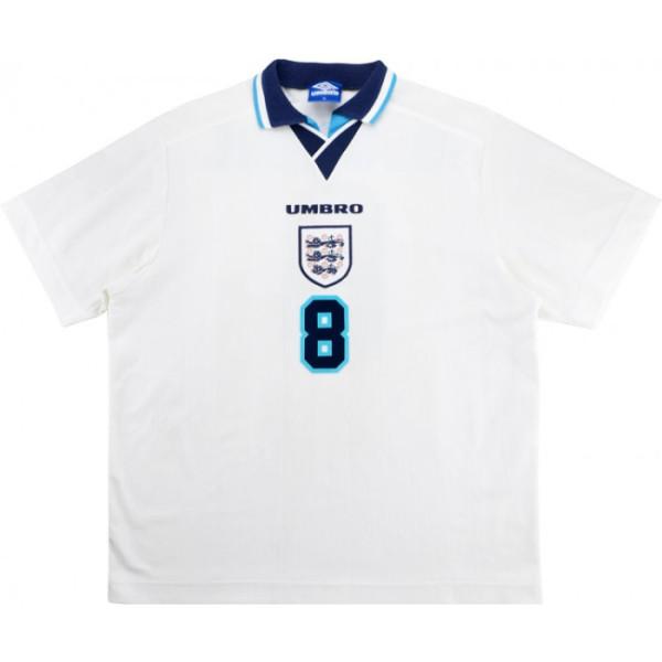 England 1995/1996 Home Retro Jersey #8 Gascoigne