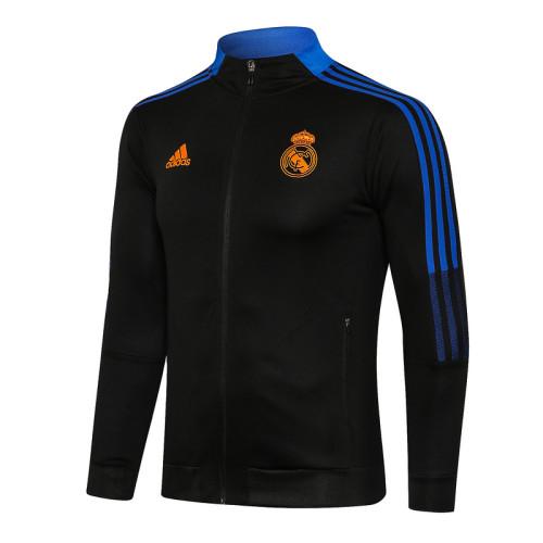 Real Madrid 21/22 Jacket Tracksuit Black A450#