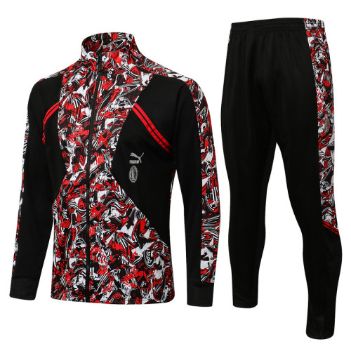 AC Milan 21/22 Jacket Tracksuit Red A460 #