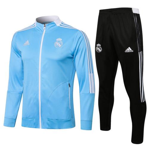 Real Madrid 21/22 Jacket Tracksuit Blue A457#