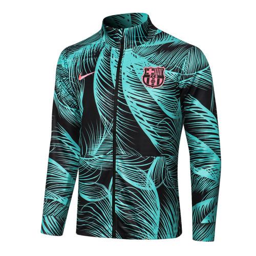 Barcelona 21/22 Jacket Tracksuit Green A454#