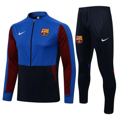 Barcelona 21/22 Jacket Tracksuit Bright Blue A464#