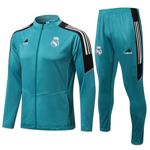Real Madrid 21/22 Jacket Tracksuit Blue A458#