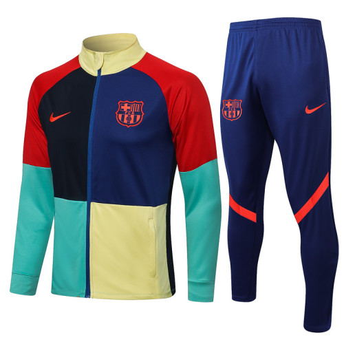 Barcelona 21/22 Jacket Tracksuit Colourful A461#