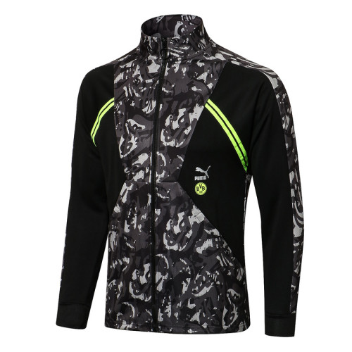 Borussia Dortmund 21/22 Jacket Tracksuit Black A462 #