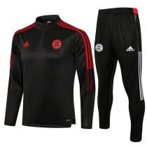 Bayern Munich 21/22 Drill Tracksuit Black B481#