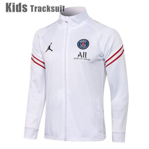 Kids Paris Saint-Germain 21/22 Jacket Tracksuit White E549#