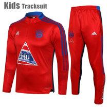 Kids Bayern Munich 21/22 Drill Tracksuit Red E550#