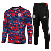 Bayern Munich 21/22 Drill Tracksuit Red and Blue B493#