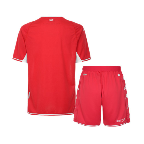Kids AS Monaco 21/22 Home Jersey and Short Kit