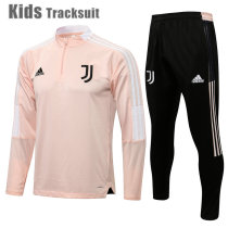 Kids Juventus 21/22 Drill Tracksuit Pink E551#