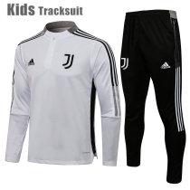 Kids Juventus 21/22 Drill Tracksuit White E553#