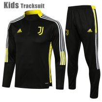 Kids Juventus 21/22 Drill Tracksuit Black E539#
