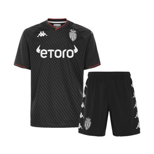 Kids AS Monaco 21/22 Away Jersey and Short Kit