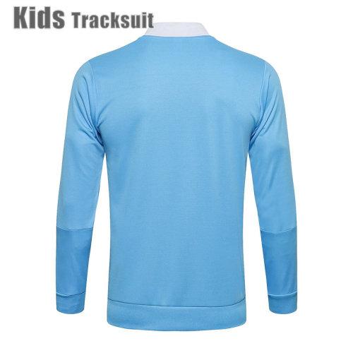 Kids Real Madrid 21/22 Jacket Tracksuit Blue E538#