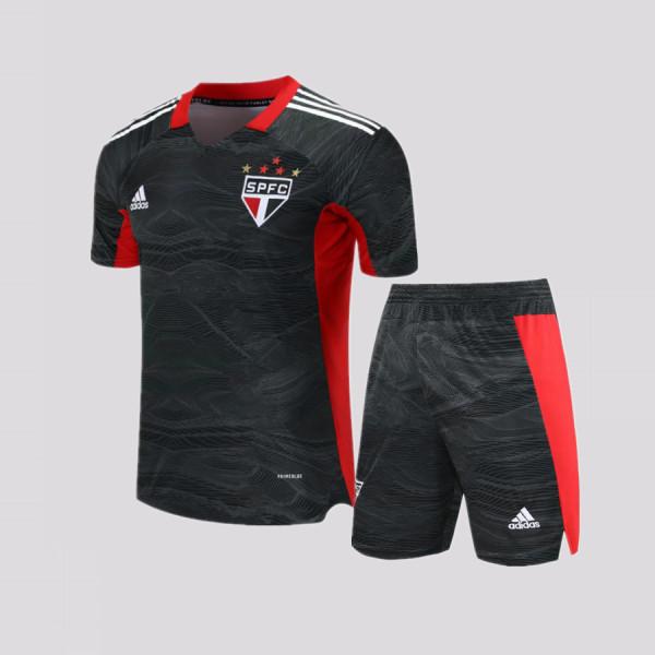 Kids Sao Paulo2021 Goalkeeper Jersey and Short Kit