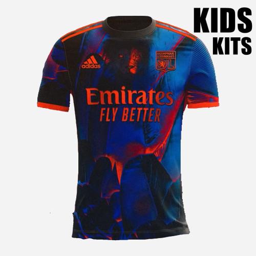 Kids Olympique Lyonnais 21/22 Fourth Jersey and Short Kit