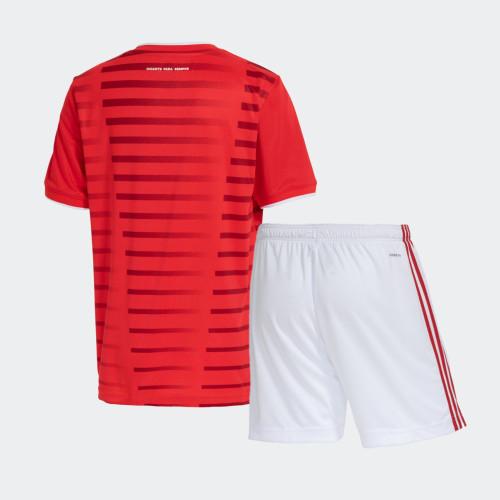 Kids SC Internacional 2021 Home Jersey and Short Kit