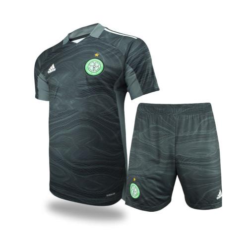 Kids Celtic 21/22 Away Goalkeeper Jersey and Short Kit