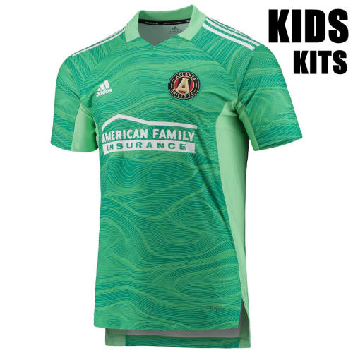 Kids Atlanta United 2021 Goalkeeper Jersey and Short Kit