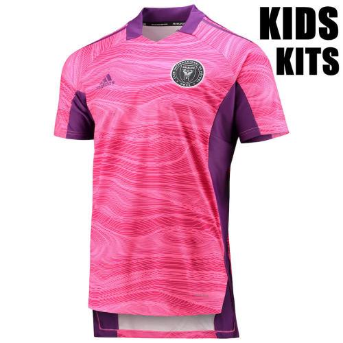 Kids Inter Miami CF 2021 Goalkeeper Jersey and Short Kit