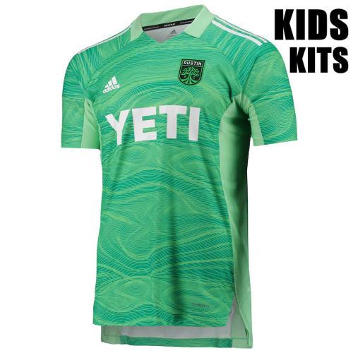 Kids Austin FC 21/22 Goalkeeper Jersey and Short Kit