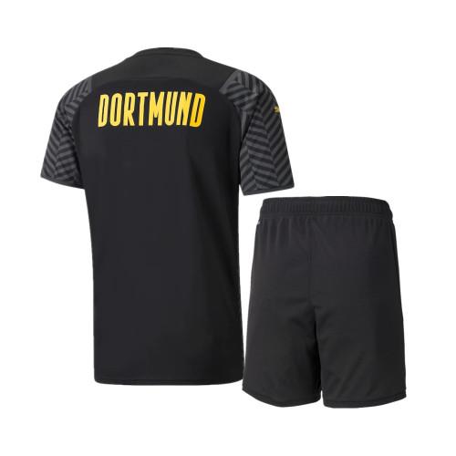 Kids Borussia Dortmund 21/22 Away Jersey and Short Kit