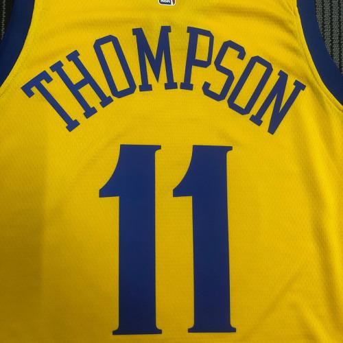 Thai Version Men's Klay Thompson Yellow Swingman Player Jersey – City Edition