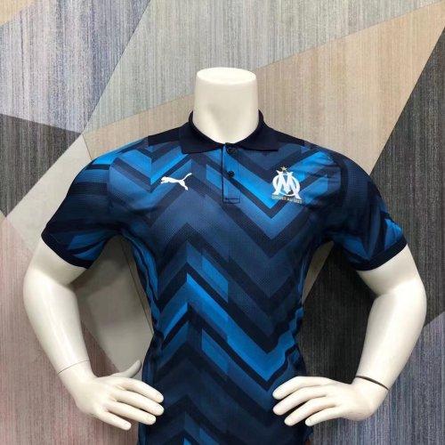 Olympique Marseille 21/22 Pre-Match Polo Shirt - Away