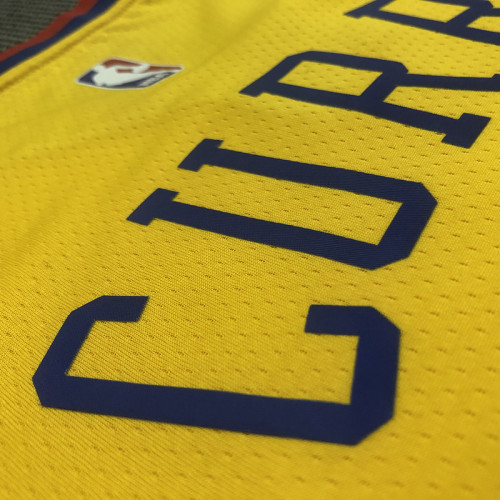 Thai Version Men's Stephen Curry Yellow Swingman Player Jersey – City Edition