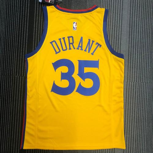 Thai Version Men's Kevin Durant Yellow Swingman Player Jersey – City Edition