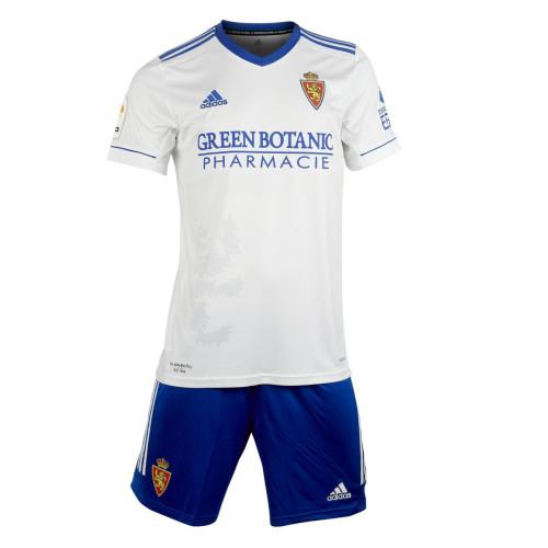 Kids Real Zaragoza 21/22 Home Jersey and Short Kit