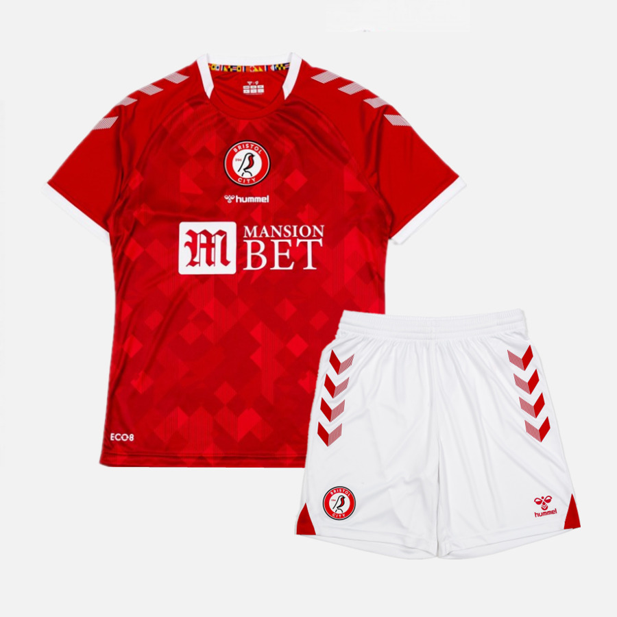 Bristol City 21/22 Home Jersey and Short Kit