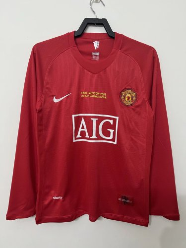 Manchester United 2008 CL Final Home Retro L/S Jersey
