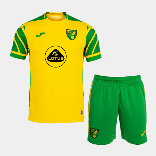 Norwich City 21/22 Home Jersey and Short Kit