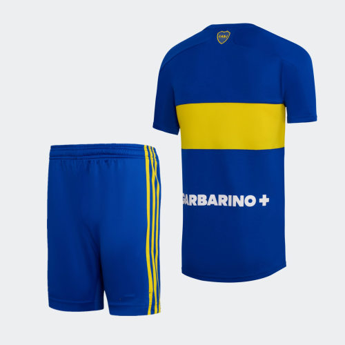 Kids Boca Juniors 21/22 Home Jersey and Short Kit