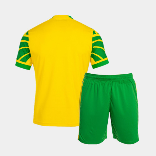 Kids Norwich City 21/22 Home Jersey and Short Kit