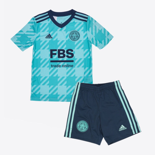 Kids Leicester City 21/22 Away Jersey and Short Kit