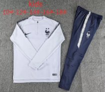 France 18/19 Kids Soccer Training Top and Pants - White